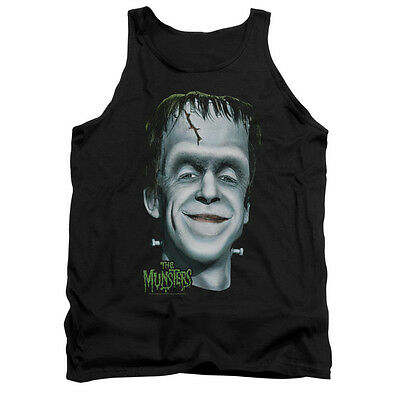 THE MUNSTERS HERMAN'S HEAD Licensed Men's Graphic Tank Top Sleeveless SM-2XL