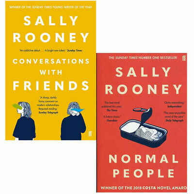 Sally Rooney 2 Books Collection Set (Conversations with Friends & Normal People)