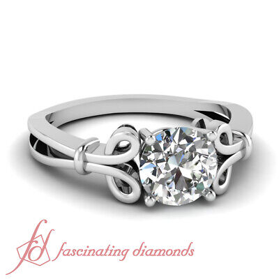 1.1 Ct Round Cut Conflict Free Diamond Solitaire Engagement Ring SI2-G Color GIA