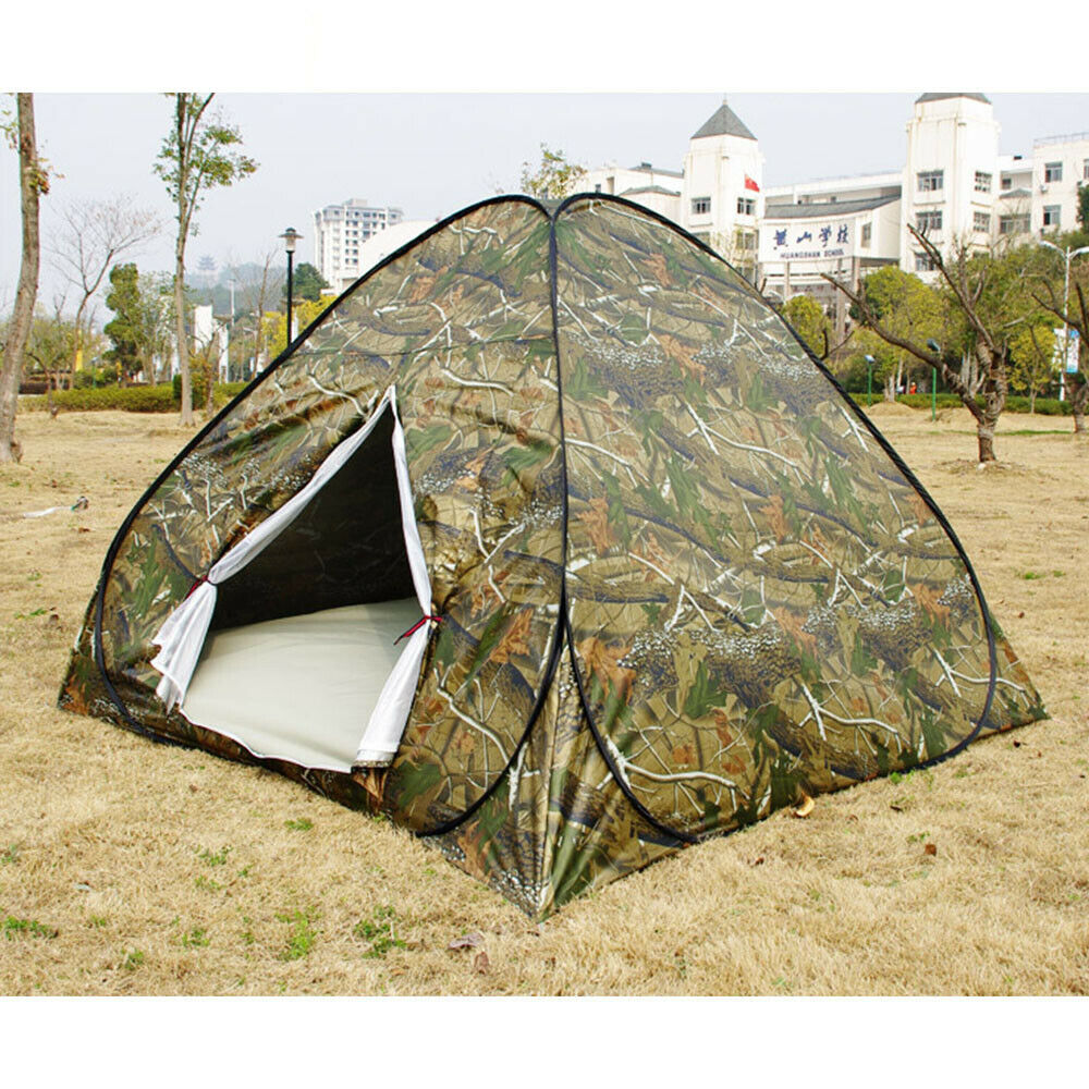 Camouflage tent for 3-4 persons outdoor camping camping tent beach travel tent