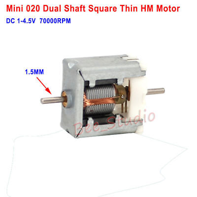 Dc 3v 3.7v 58000rpm Dual Shaft Axis High Speed Mini Square 020 Motor Diy Toy Car