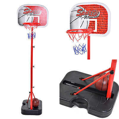 Portable Basketball Set Hoop Backboard Free Standing For Children, Kids, Junior