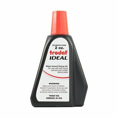 Red Self-inking Stamp Ink, Trodat 2 Oz Drip Spout Bottle 2 Self Inking