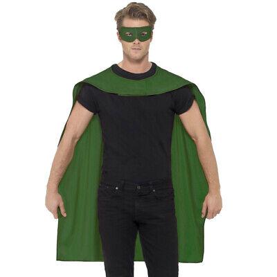 Grün Superhelden Umhang und Maske Bösewicht Hero Kostüm - Super Bösewicht Masken