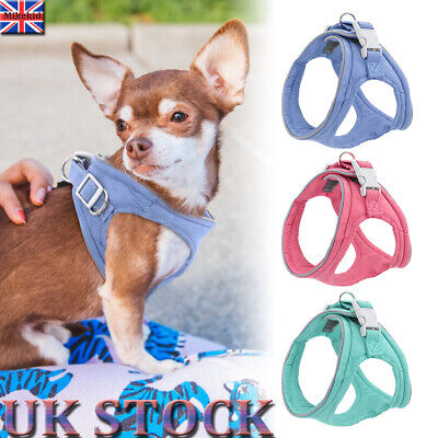 ❤Small Medium Soft Padded Dog Cat Harness Reflective Pet Harness Vest Adjustable