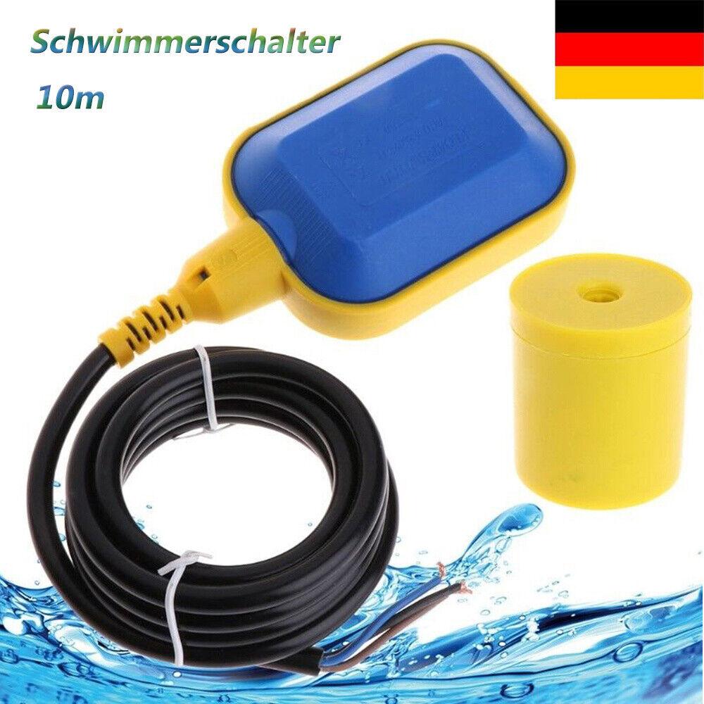 bis 10m Kabellänge! Niveau-Schwimmerschalter zum Befüllen /& Entleeren mit VDE