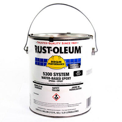 Rust-oleum 5300 Safety Yellow Water-based Expoxy Base 0.875 Gallon 5344408