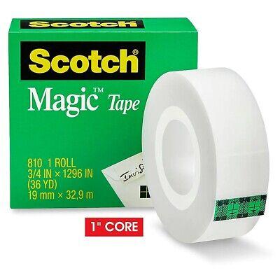 1 Roll Scotch Magic Tape 810 Refill 34 X 1296 Matte Finish Invisible Tape