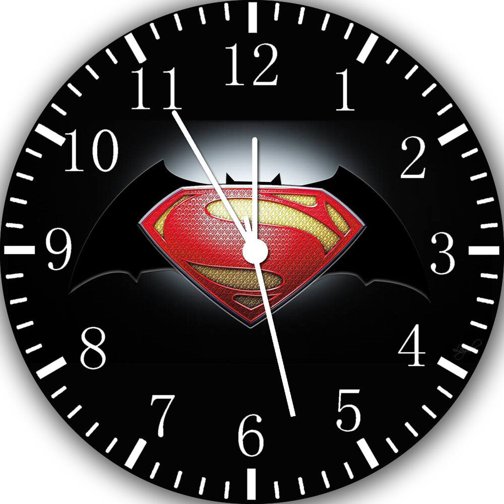 Superman Batman Frameless Borderless Wall Clock For Gifts or Home Decor E22