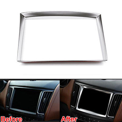 Auto Console Dashboard Navigation GPS Screen Frame Trim ABS For Levante 2016-17