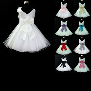 UK668-Bridesmaid-Wedding-Flower-Girls-Dresses-Sz-1-2-4-5-6-7-8-9-10-11-12-13Y