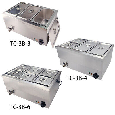 346 Pots Electric Bain Marie Commercial Food Warmer Wet Well Heat Catering