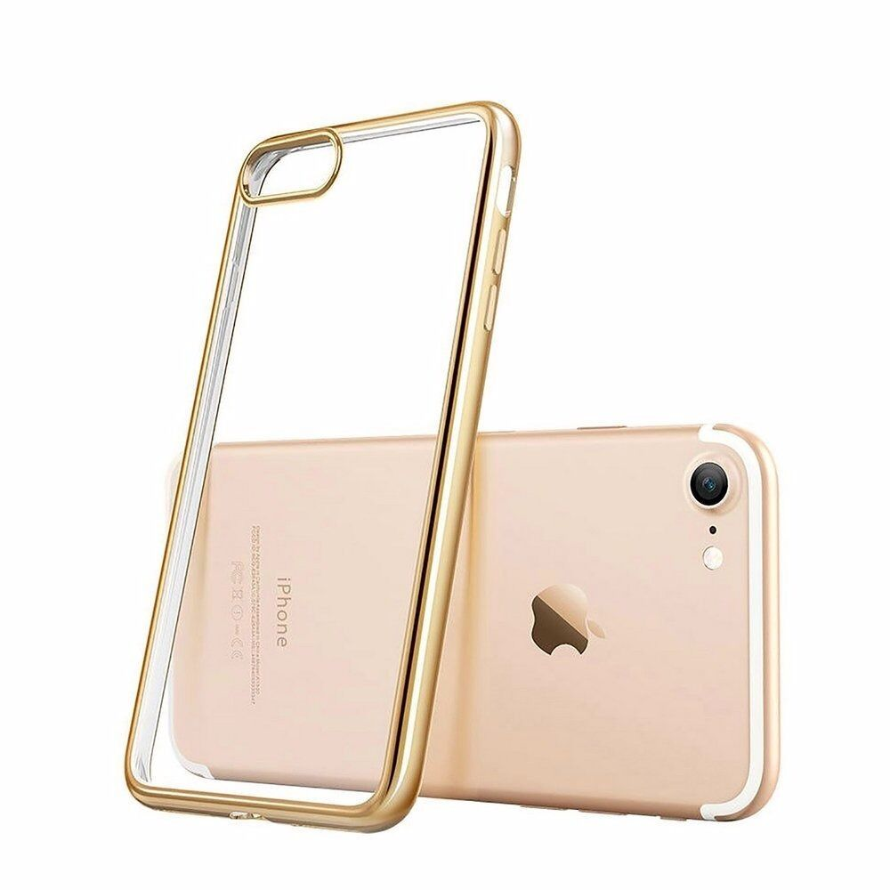 "Transparent Silicon Cover for iPhone 7 4.7Clear (iPhone 7 GoldBrand Newin Calne, WiltshireGumtree - iPhone 7 Case, LONZOTH Clear Shockproof Case Bumper Transparent Silicon TPU Cover for iPhone 7 4.7"" Clear (iPhone 7 Gold) Compatible for Apple iPhone 7(4.7 Inch) By Metal Electroplating Technology,the case will be more beatiful,and have a good..."