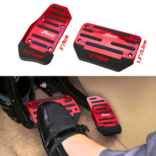 Car Parts - 2X Red Non-Slip Automatic Gas Brake Foot Pedal Pad Cover Car Accessories Parts A