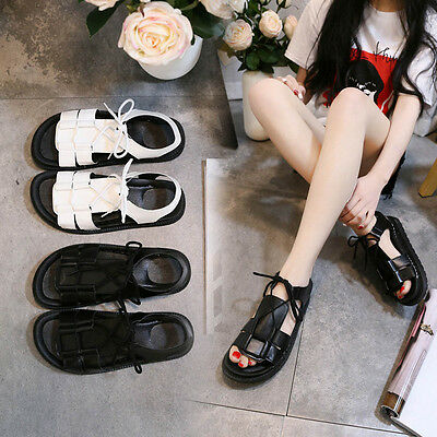 Women Flat Bottomed Toe Sandals Non-slip thick Bottomed Wild Strap Sandals