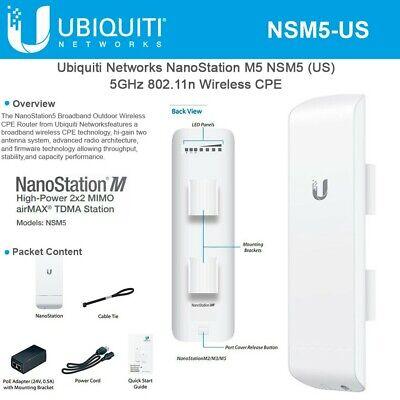 Usado, Ubiquiti NanoStation NSM5-US 5GHz 16dBi MIMO AirMax US Version comprar usado  Enviando para Brazil