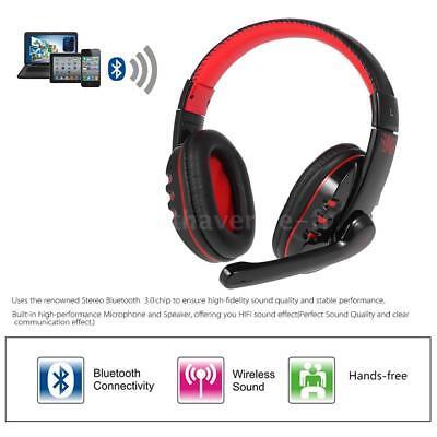 V8 Pro sans fil Bluetooth Gaming Headphone Écouteurs Casque Avec Micro Noir P7J6