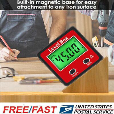 2-key Digital Protractor Gauge Level Box Angle Finder Inclinometer Magnet Meter