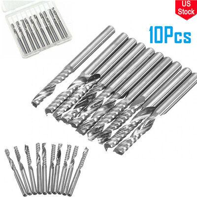 1 Set 10pcs 18 1-flute Carbide Flat Nose Spiral End Mill Cnc Router Bits17mm