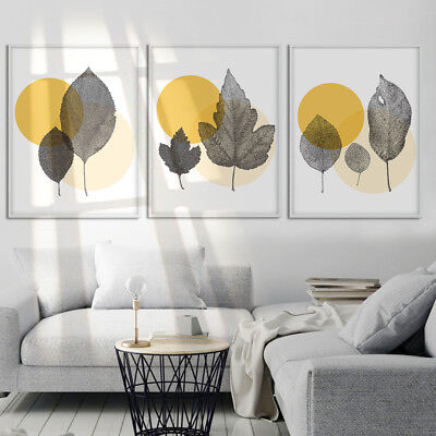 Abstract Leaf Wall Art (Abstract Leaves Canvas Poster Art Picture Prints Wall Painting Home)