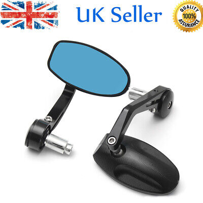 2X BLACK CNC MOTORCYCLE BAR END REARVIEW SIDE MIRRORS FOR TRIUMPH SPEE