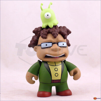 Kidrobot Futurama series 2 Hermes w/ Brain Slug 3-inch vinyl figure - displayed