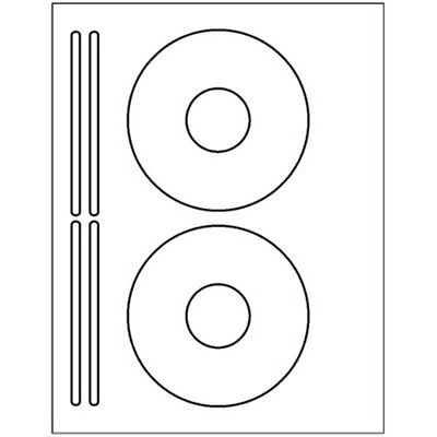 200 Cd Or Dvd Labels - 2 Labels 4 Spines Per Sheet - Usa Made - 5931 Template