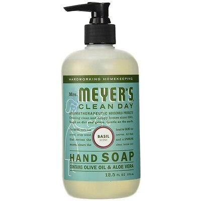 (Mrs. Meyers Clean Day Hand Soap, Basil 12.50 oz)