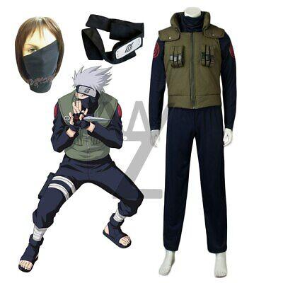 Cheap Anime Cosplay Costumes (Cheap Halloween Costumes Anime Naruto Hatake Kakashi Cosplay Outfits Mask)