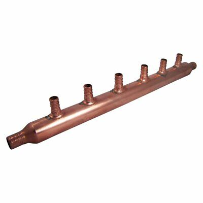 Copper Pex Manifold 34 With 6 12 Pex Outlets