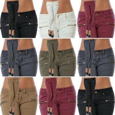 Damen Jeans Hose Skinny Hüftjeans Hüfthose Röhre Röhrenjeans Stretch Übergröße Skinny Denim Jean Pants