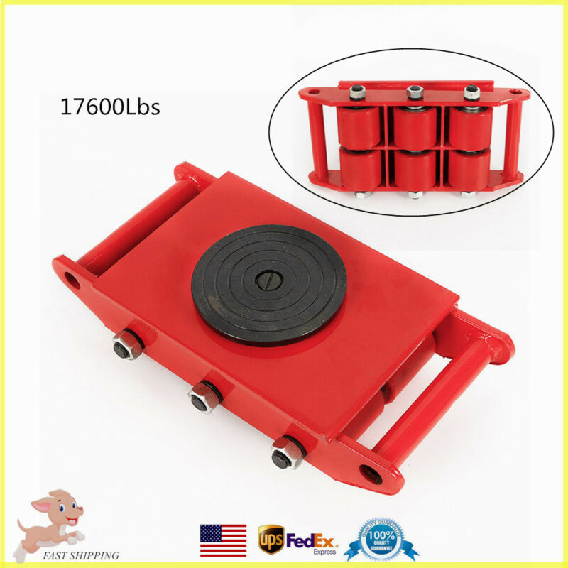 360° Industrial Machinery Mover 8T 17600lb Heavy Duty Machine Dolly Skate Roller