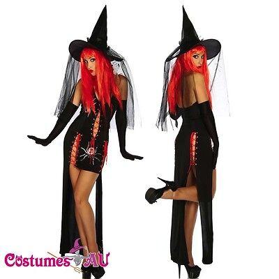 Sexy Hocus Pocus Versatile Witch Halloween Fancy Dress Costume + Hat - Hocus Pocus Fancy Dress