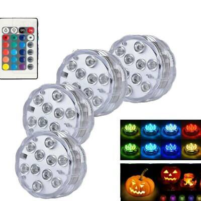 4X Led Light Remote Control Color Colored Boundary RGB Submersible Efx Accent - Multi Colored Leds