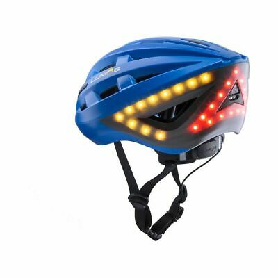 LUMOS Kickstart Casco Bicicleta Eléctrica LED Intermitente Luz de Freno Cobalto