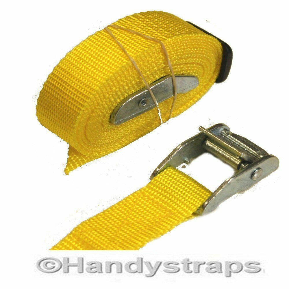 CAM BUCKLES Straps 2 x 25mm 1.5 metre Red Luggage Trailer tie down CAR Roof Rack