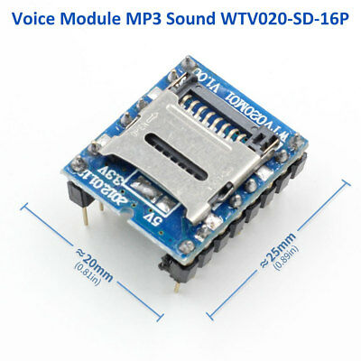 U-disk Audio Player Sd Card Voice Mp3 Sound Module Wtv020-sd-16p For Arduino