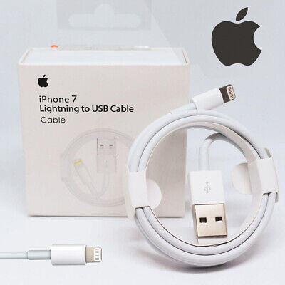 Genuine Apple iPhone XS Max XR X 8 7 Plus Lightning Charger USB Data Cable Lead
