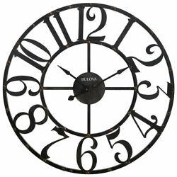 Bulova Clocks C4821 Gabriel 45 Inch Oversized Gallery Rustic Analog Wall Clock