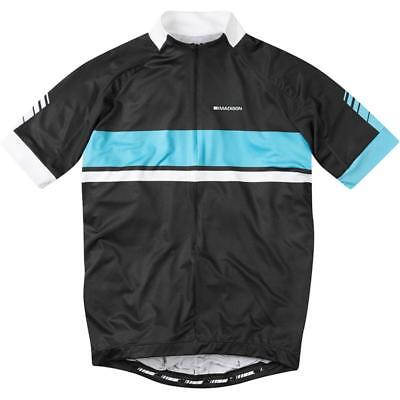 Madison Sportive Maillot de Ciclismo Transpirable Bicicleta Camiseta Negro Azul