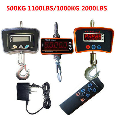 500kg1000kg Digital Crane Scale Heavy Duty Industrial Hanging Scale Lcd Display