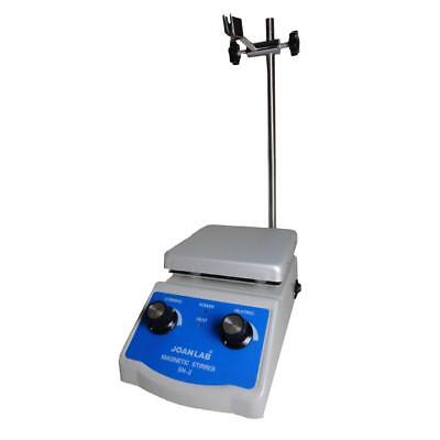 Laboratory Magnetic Stirrer Hotplate 12cm X 12cm With Stirring Rod Plating Lab