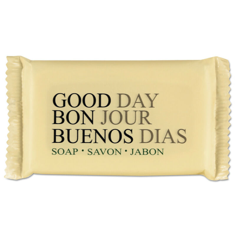 Good Day Amenity Bar Soap, Pleasant Scent, 1.5 Width, 500/carton  390150A New
