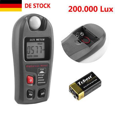 LCD Digital Luxmeter FC Lichtmesser Beleuchtungsmessgerät Helligkeitsmesser DE