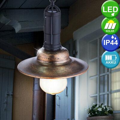 LED Solar Colgante Cubrir Linterna Casa de Campo Terraza Exterior Luz Péndulo