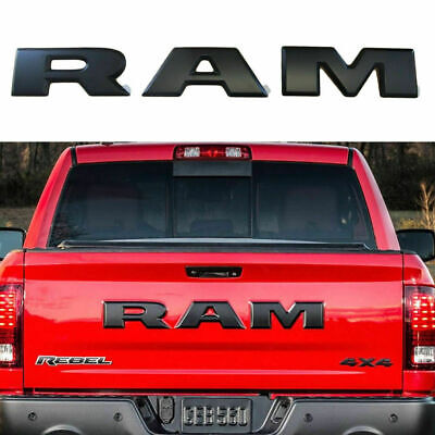 New Chrome Rebel RAM 1500 2500 3500 Tailgate RAM Emblem Letters Badge Nameplate