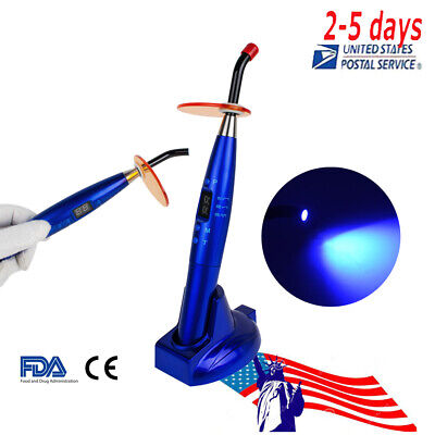 Us 2-5d Dental Led Curing Light Lamp Wireless Cordless Resin Cure 10w 2000mw Fda