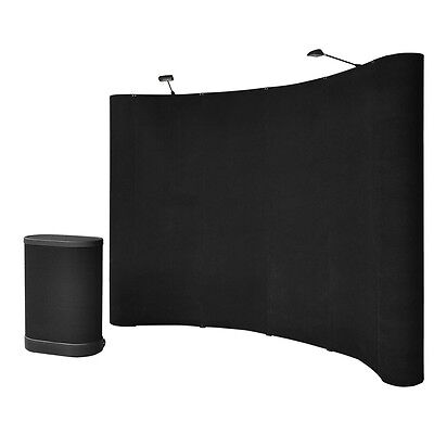 10' ft Portable Black Display Booth Pop Up Kit Trade Show Hardcase Exhibition on Rummage