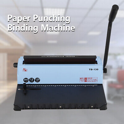 34 Hole Punching Spiral Coil Calendar Binding Machine Filing A4 Solid Handle Hot