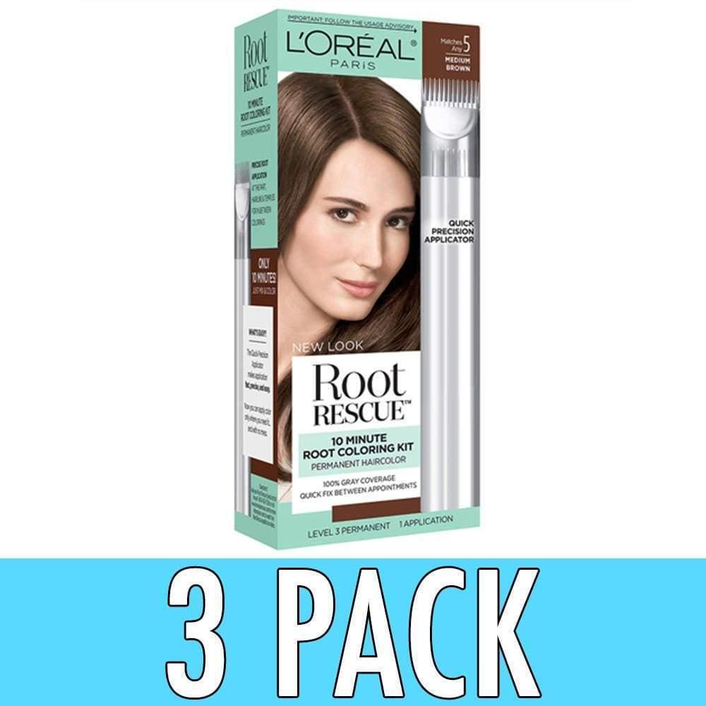 3 Loreal Paris Root Rescue Hair Color 10 Minute Coloring Kit 5